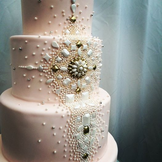 Sugar jewel cake closeup